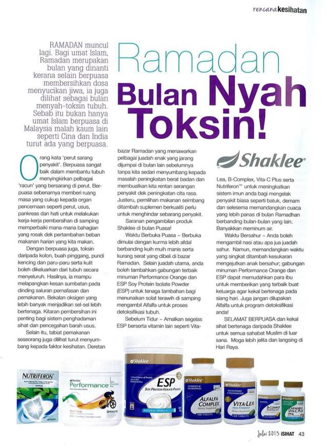 ramadhan with shaklee