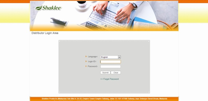 sistem online shaklee