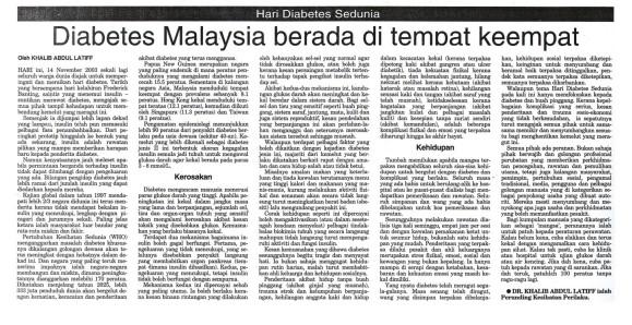 DIABETES DI MALAYSIA