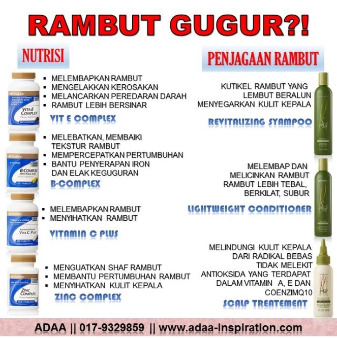 SET RAMBUT GUGUR