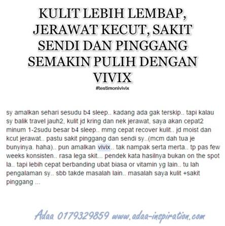 TESTIMONIAL VIVIX JULAI 25