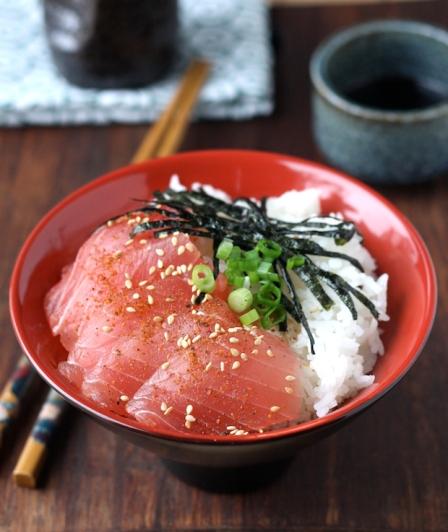 tuna sashimi rice bowl recipe with shichimi togarashi.jpg